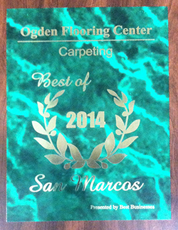 Amazing Ogden Flooring Center Was Awarded Best Hardwood Flooring Company For 2013  And Best Carpeting Company For 2014 By The San Marcos Awards Program.